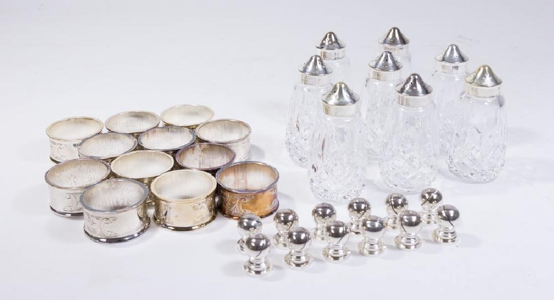 Lot Salt & Peppers & Napkin Rings