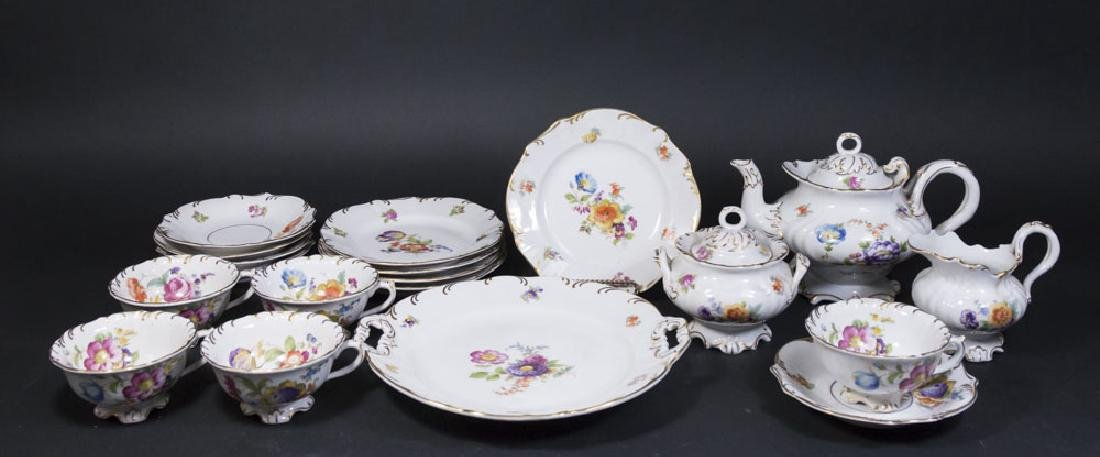 Meissen Floral Tea Set