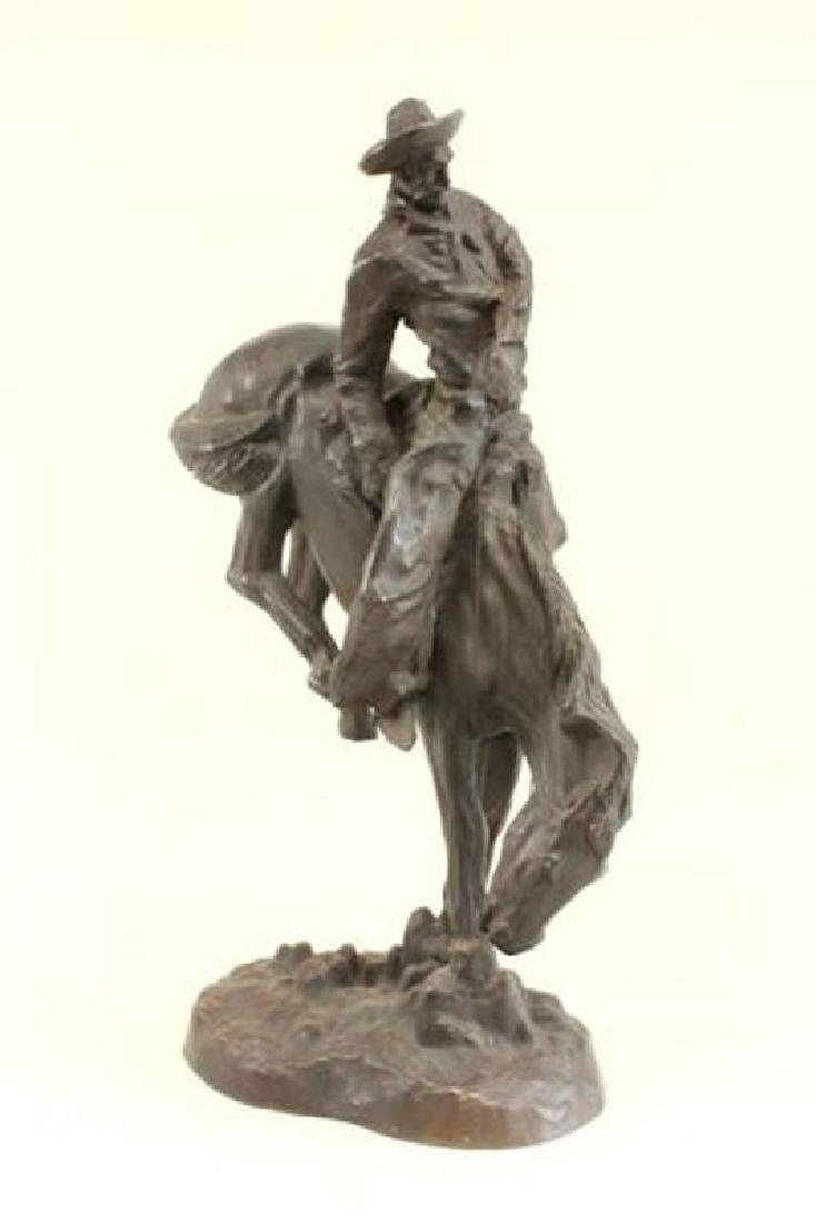 :White Metal Cowboy on Horseback
