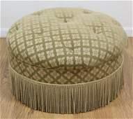 Button Tufted Round Pouf Ottoman