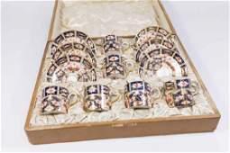 Royal Crown Derby Porcelain Cups & Saucers