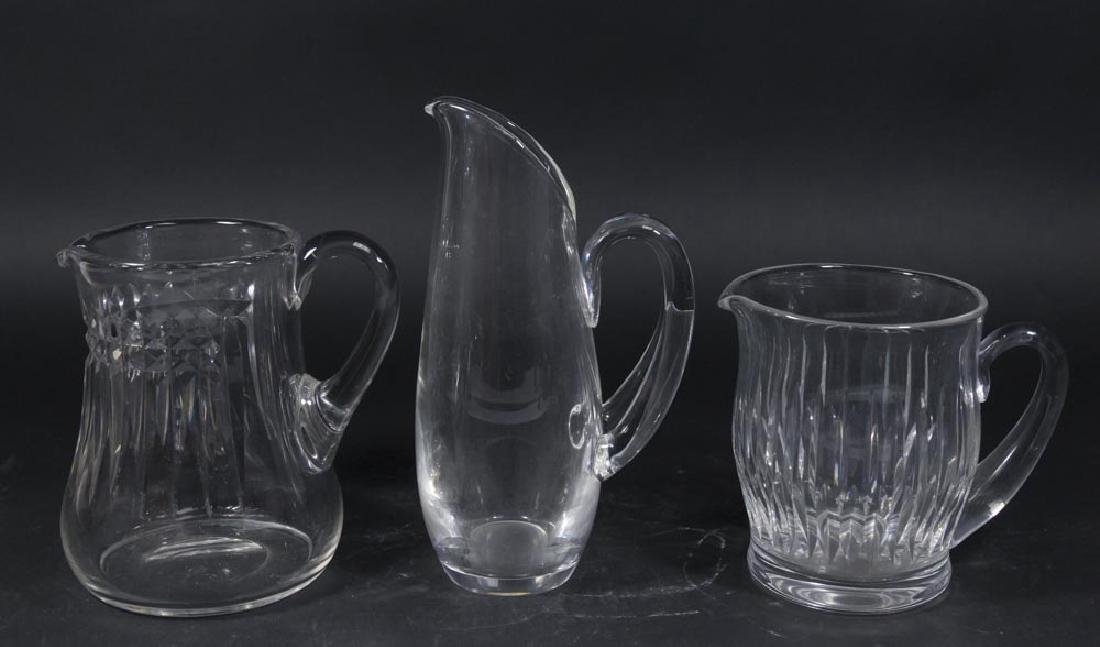 Lot of 3 Glass Pitchers