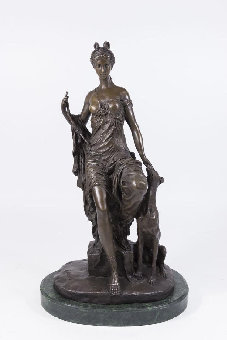 Bronze Diana on Marble Base