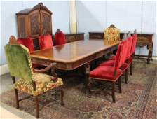 12-Piece Marble Top Dining Room Set
