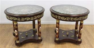 :Pair French Style Lamp Tables
