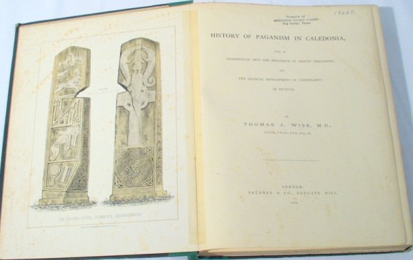 1003: Wise PAGANISM IN CALEDONIA 1884 Pictavia SIGNED