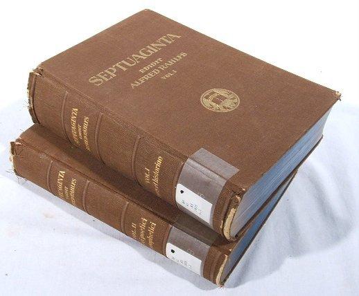 1507: 2V Rahlfs SEPTUAGINTA 1935 Old Testament Greek