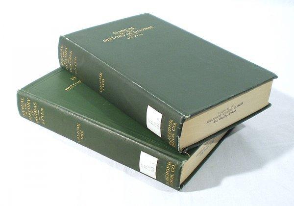 1512: 2V Set Otten HISTORY OF DOGMAS 1922 Patristic
