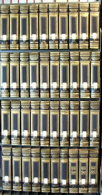 1608: 39V Set ENCICLOPEDIA ITALIANA Italian Art Science