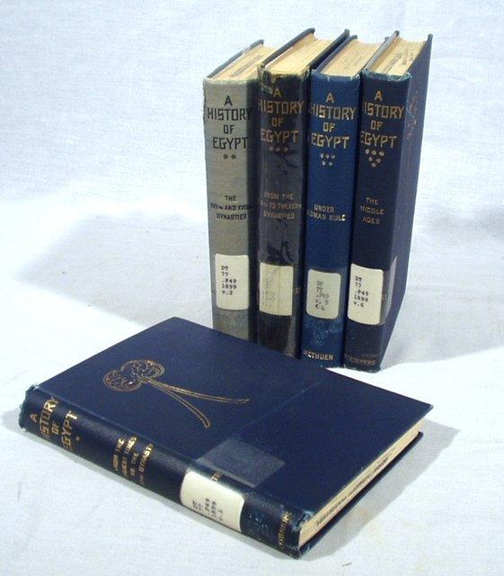 4513: 5V EGYPTIAN HISTORY 5 Vol. Set  By Lane-Poole