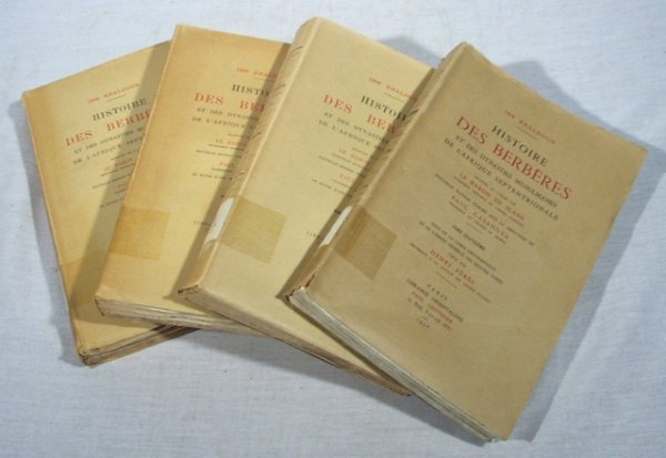 4519: 4V HISTORY of DES BERBERES 4 Vol. Set by Slane