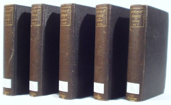 5014: 5V Set HISTORY OF GREECE Curtius/Ward 1902