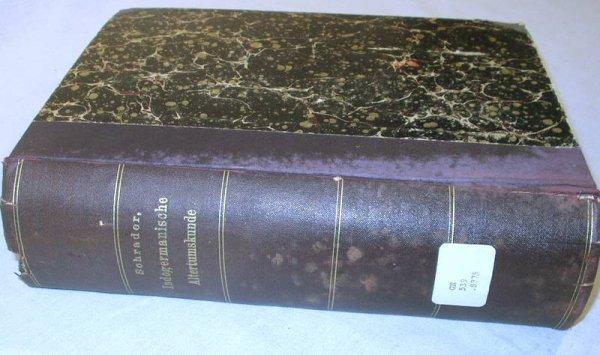 5016: Schrader REALLEXIKON INDOGERMANISCHEN 1901 1st Ed