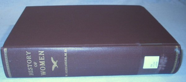 5501: 2V Alexander HISTORY OF WOMEN 1779 1st Edition