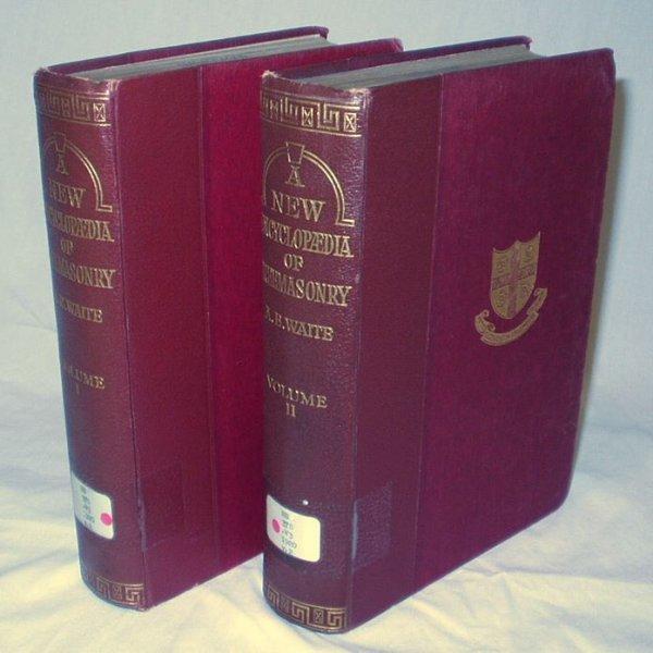 5518: 2V Set NEW ENCYCLOPAEDIA OF FREEMASONRY Waite