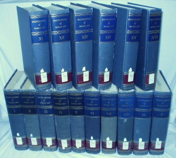6006: 16 Vols. Set ENCYCLOPEDIA OF WORLD ART Pallottino