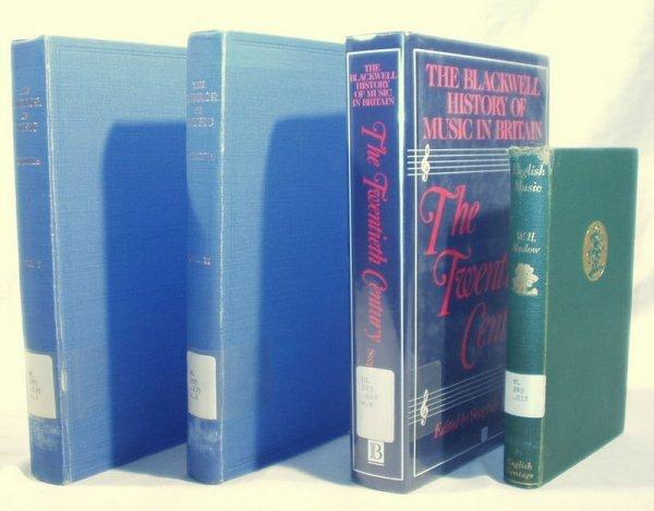 6020: 4V ENGLISH MUSIC HISTORY Blackwell Scholes Hadow
