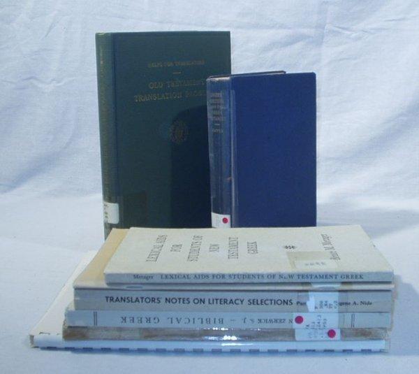 6515: 7V BIBLE TRANSLATION Metzger Hayes Zerwick Nida