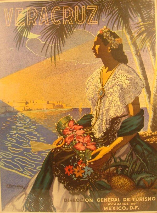3012: Buenos Diaz VERACRUZ c1935 Mexico Turismo Galas