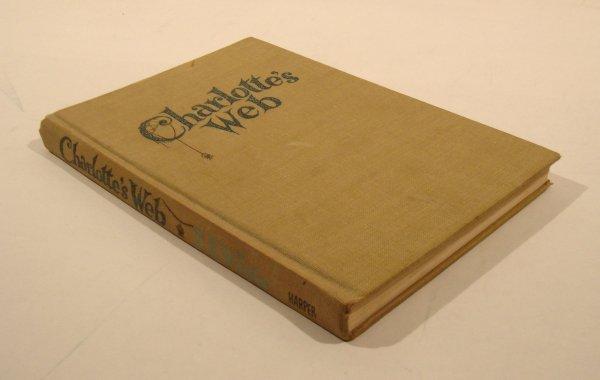 3016: White CHARLOTTE'S WEB 1952 1st Ed DeMille Weeks