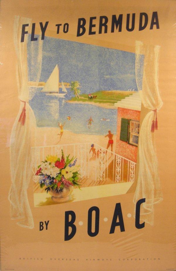3027: Baynard BERMUDA B.O.A.C. c1955 British Overseas
