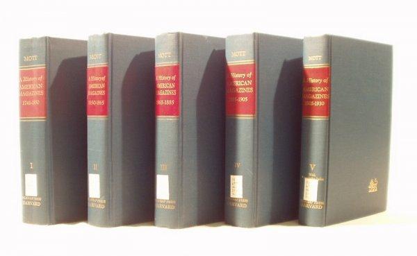 7016: 5V Set HISTORY AMERICAN MAGAZINES 1741-1930 Mott