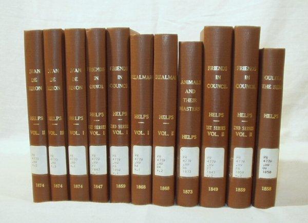 7084: 11V Set WRITINGS OF SIR ARTHUR HELPS 1847-1874