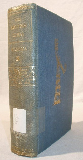 7153: SIGNED Waddell BRITISH EDDA 1930 1st Ed. Egypt