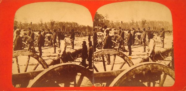 2004: Stereograph BATTLE CHICKAHOMINY Civil War 1862