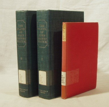 8022: 3V DRINKWATER Collected Plays Robert Burns