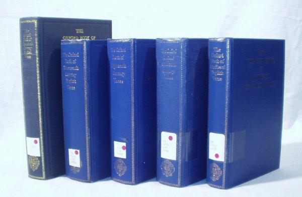 8282: 5V OXFORD BOOKS ENGLISH VERSE 20th19th18th17thMed