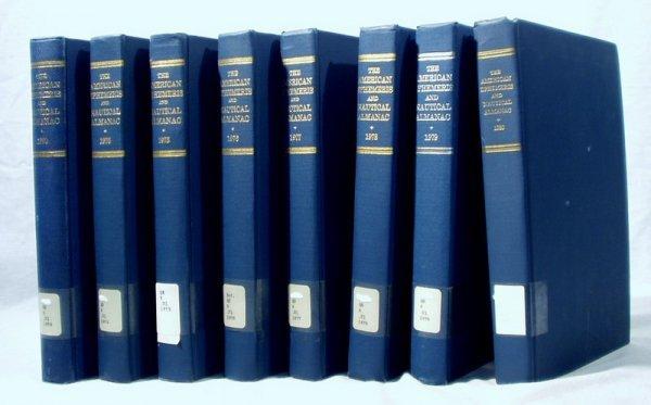 8508: 8V AMERICAN EPHEMERIS & NAUTICAL ALMANACS 1970-80