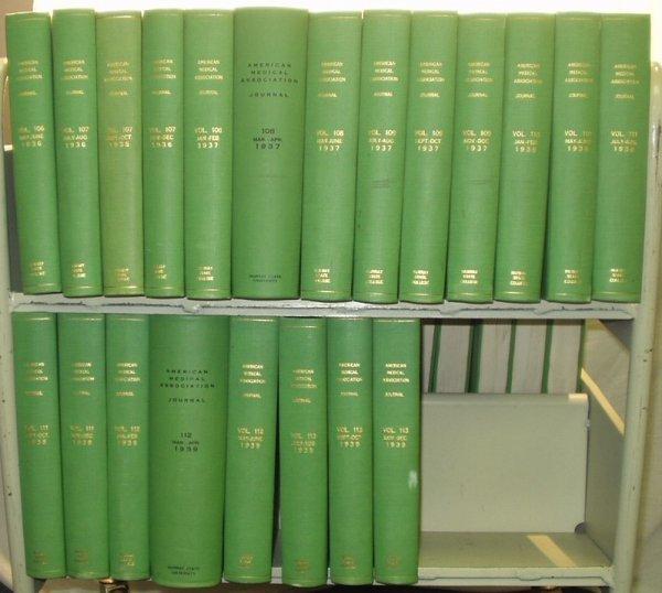 9019: Periodical - J. AMERICAN MEDICAL ASSOC.1930-1939