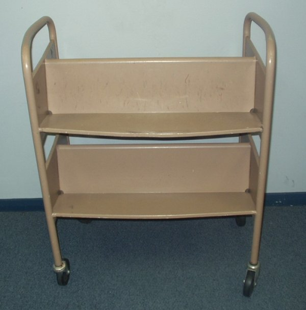 9509: Professional LIBRARY CART Wheeled Commercial