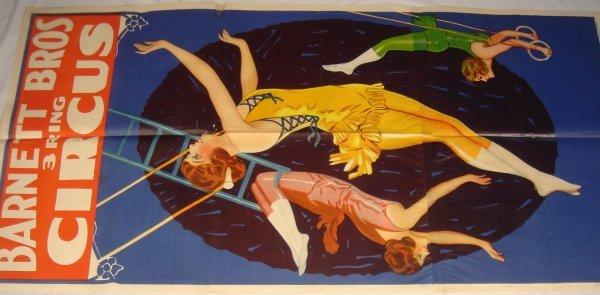 4006: Circus Broadside BARNETT BROTHERS 1924 3-Ring