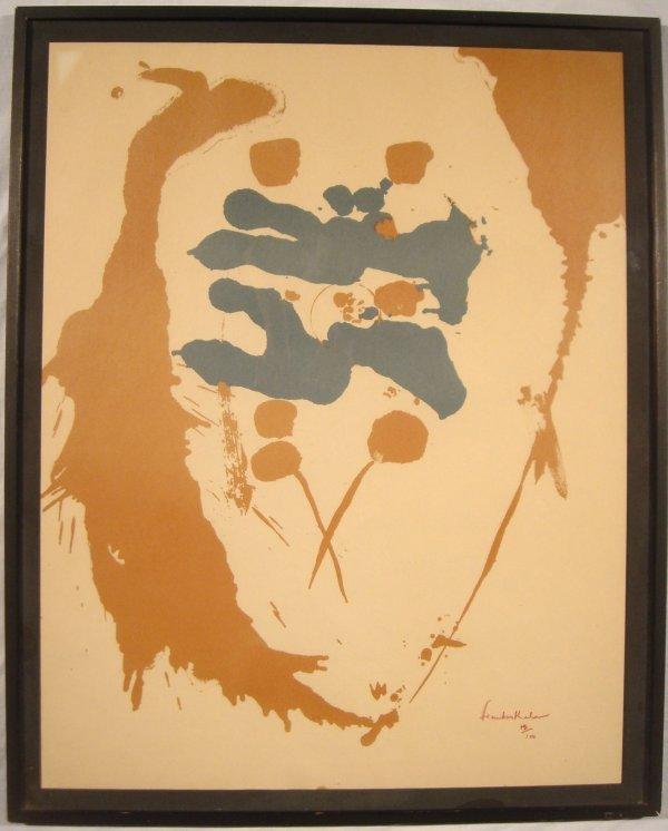 4010: Helen Frankenthaler LIMITED SIGNED PRINT Abstract