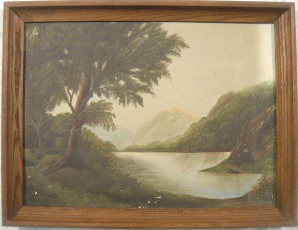4030: Folk Art HUDSON VALLEY OoB Painting c1880