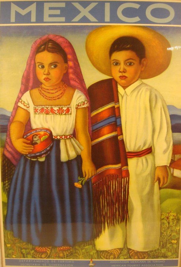4035: c1940 MEXICO Uruela Mexicana Turismo Children