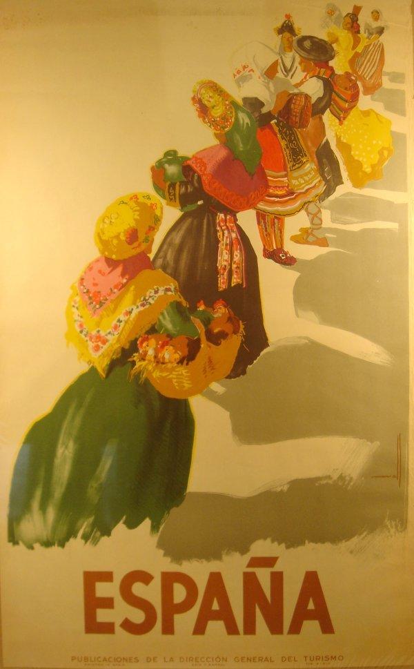 4051: c1940 ESPANA Morell Turismo Spain Ethnic Dress