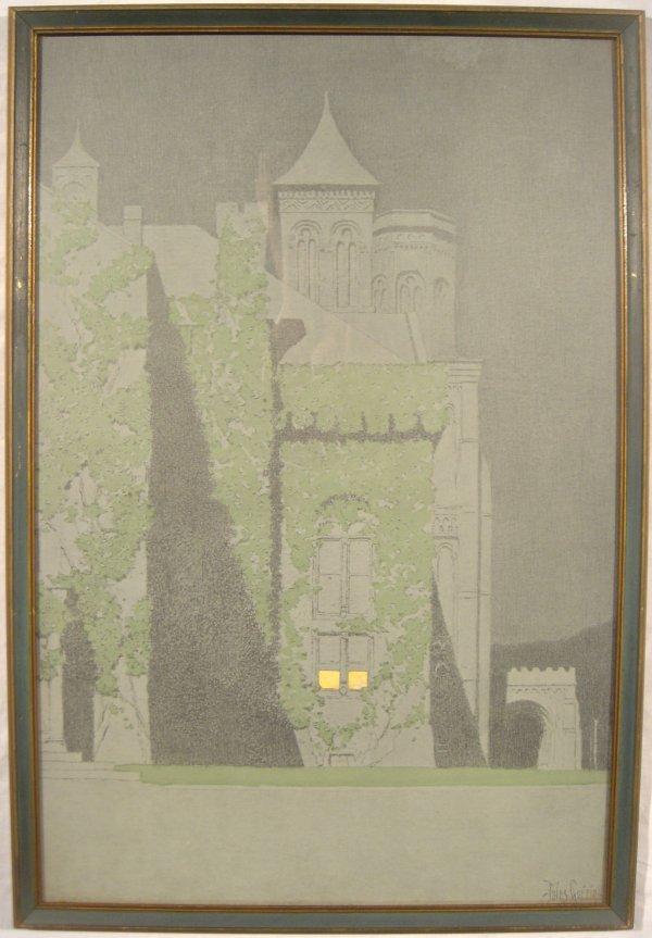 4194: Jules Guerin GOTHIC CASTLE Nocturne Print