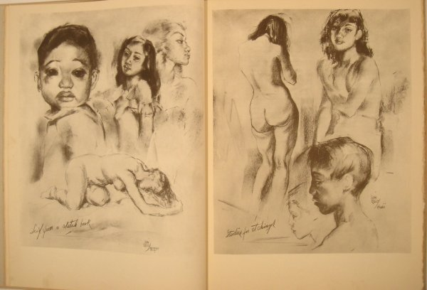 5298: John Kelly ETCHINGS DRAWINGS HAWAIIANS 1943 Hawai - 6