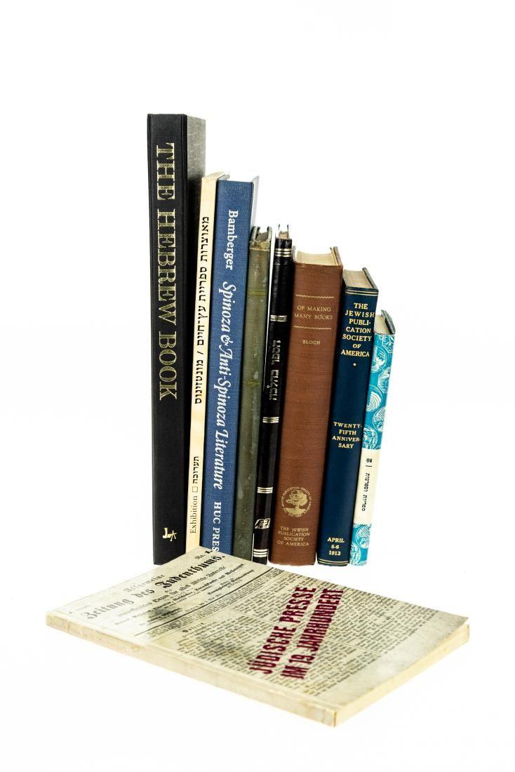 9V HISTORY OF JEWISH BOOKS & PRINTING Vintage & Antique