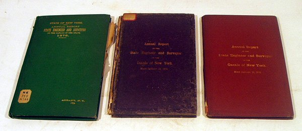 8019: 3V NY Canals Annual Reports STATE ENGINEER 1870s