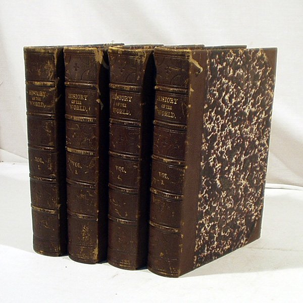 8048: Duyckinck HISTORY WORLD c1869 4 Vols. Engravings