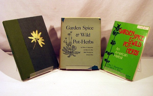 1131: 4V Herbs Woodcuts ELFRIEDE ABBE Signed Cornell