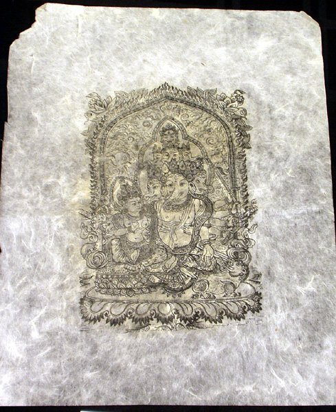 3015: 7 Rice Paper Prints Hindu Gods Ganesha 14x20