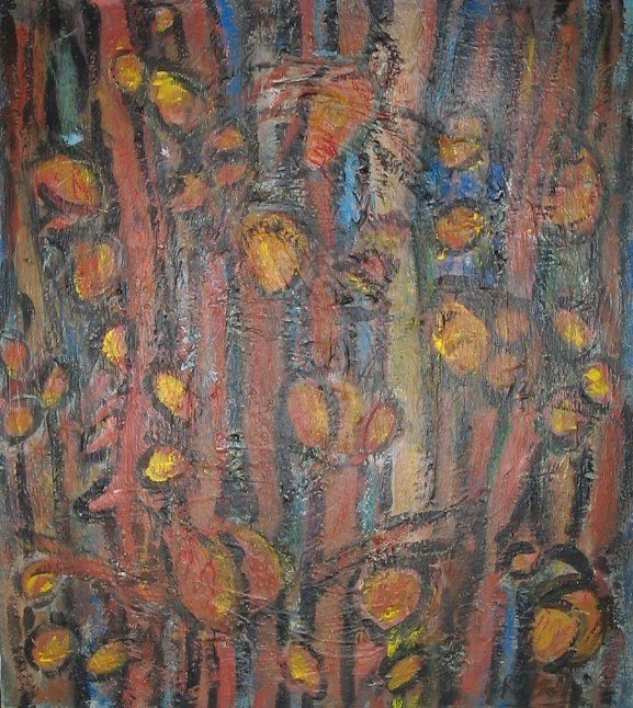 3024: R. G. Bell LUMINARIES Oil Painting c1960 NY