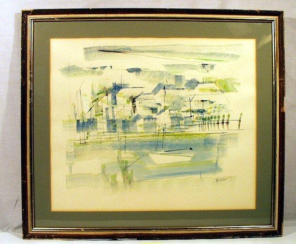 3055: ALFRED BIRDSEY 2 Watercolor Paintings Bermuda