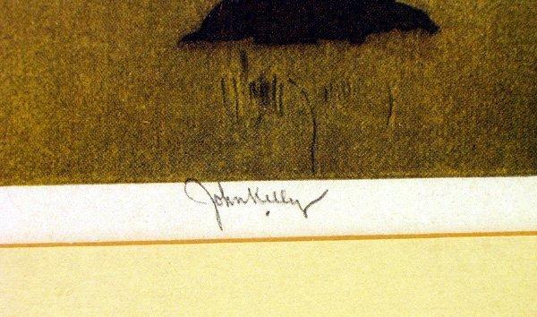 3205: JOHN KELLY 2 Early Hawaii Prints Bamboo Frames