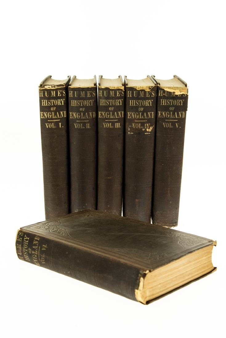 6V David Hume HISTORY OF ENGLAND 1860 Complete